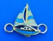 sailboat opal bracelet top, sterling