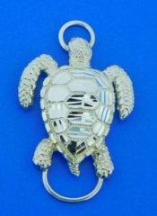 sea turtle bracelet top, sterling silver