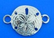 sand dollar bracelet top. sterling silver