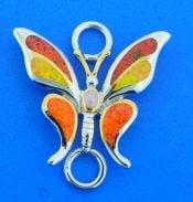 butterfly opal bracelet top, sterling silver