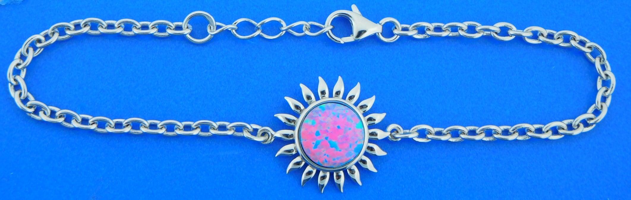 1636a0e3eb8a3 Alamea Sunflower Opal Bracelet, Sterling Silver | Island Sun Jewelry ...