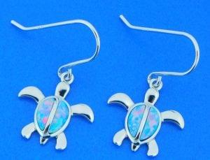 alamea sea turtle opal earrings