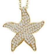 Alamea gold plated sterling starfish pendant