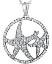 alamea cz starfish pendant sterling
