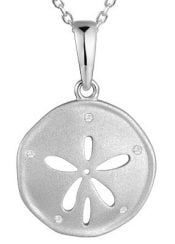 alamea sanddollar pendant, sterling