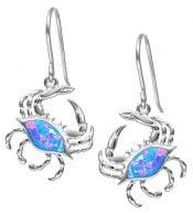 alamea crab opal earrings, sterling