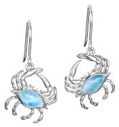 alamea larimar crab earrings, sterling silver