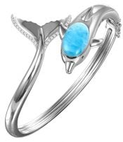 dolphin larimar bangle, sterling