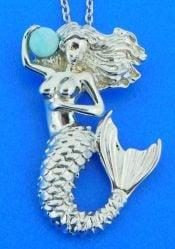 alamea mermaid larimar pendant, sterling