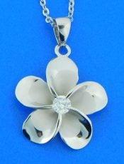 alamea sterling plumeria pendant