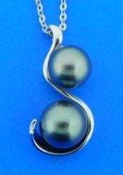 alamea tahitian pearl pendant,sterling