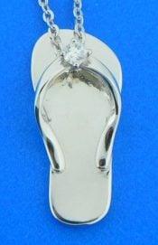 alamea flip flop cz sterling pendant