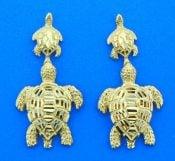 seaturtle 14k earrings