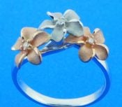 denny wong 2-tone plumeria ring rose & white gold