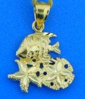sealife pendant, 14k