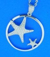 alamea sterling silver starfish cz pendant