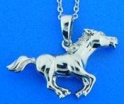 horse pendant, sterling