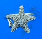 denny wong starfish ring, sterling silver