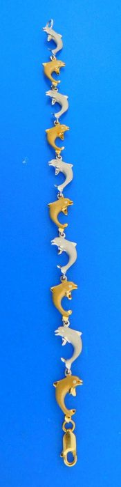 14k denny wong dolphin bracelet