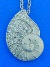 Alamea Sea Nautilus Shell Pendant, Sterling Silver