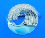 Alamea Wave Ring, Sterling Silver & Larimar
