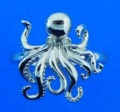 Alamea Octopus Ring, Sterling Silver