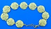 Alamea Sand Dollar Bracelet, Sterling Silver & Yellow Gold Plated