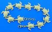Alamea Sea Turtle Bracelet, Sterling Silver & Yellow Gold Plated