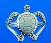 Alamea Sea Turtle Ring, Sterling Silver