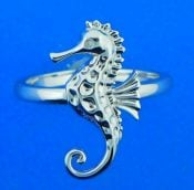 Alamea Seahorse Ring, Sterling Silver