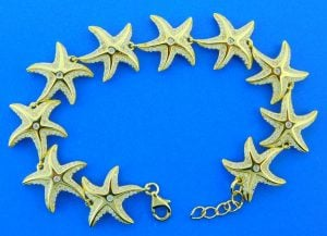 Alamea Starfish Bracelet, Sterling Silver & Gold Plated