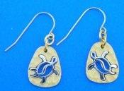 Denny Wong Honu Sea Turtle Earrings, 14k 2-Tone