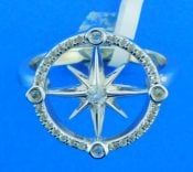 sterling silver compass rose ring