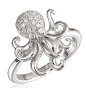 alamea octopus cz ring sterling silver