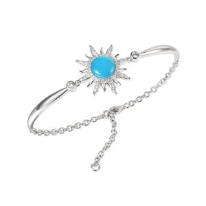 Alamea Sun Bracelet, Sterling Silver & Larimar