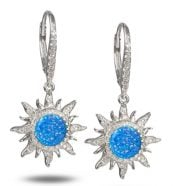 alamea sun opal cz earrings sterling silver