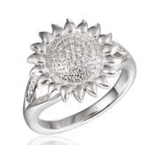 alamea sunflower cz ring sterling silver