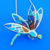 sterling silver dragonfly pendant sterling silver & opal