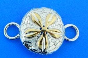 sand dollar bracelet topper sterling silver