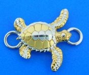 sterling silver sea turtle bracelet topper