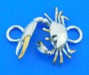 sterling silver crab bracelet topper