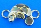 sterling silver manatee bracelet topper