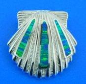sterling sliver scallop shell slide sterling silver
