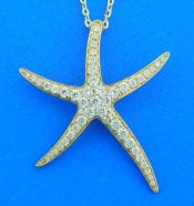 tarfish 14k diamond pendant