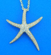 starfish 14k diamond pendant