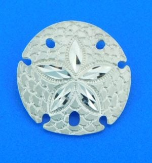 sterling silver sand dollar slide pendant