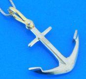 anchor pendant sterling silver 14k steven douglas
