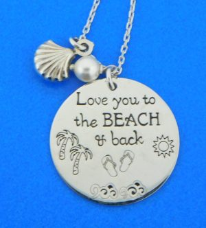 sterling silver beach necklace