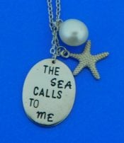 sterling silver lbi necklace