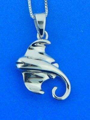 sterling silver manta ray pendant